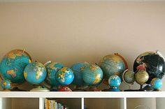love vintage globes