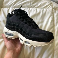 buy popular d597a a9abf Nike Shoes   Air Max 95 Pony Hair Blacksail Nike   Color  Black White    Size  6
