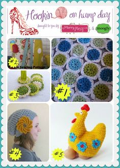 Hookin On Hump Day #39 - Link Party for the Fiber Arts! Check out the great featured patterns and posts, and then add your own! Crochet, knitting, sewing - all are welcome!