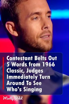 Contestant Belts Out Just 5 Words from 1966 Classic, Judges Immediately Spin Around To See Who's Singing Country Music Videos, Country Music Singers, I Love Music, Good Music, Amazing Music, Got Talent Videos, Singing Competitions, Show Video, Hail Mary