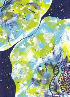 Petals and Moonbeams. 5 x 7 acrylic on paper. © 2015 Sheila Delgado
