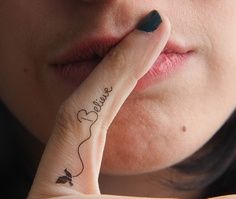 finger tattoos for women  | Believe temporary finger tattoo Design Idea - Tattoo Design Ideas