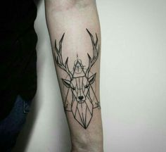Tattoo geometric deer