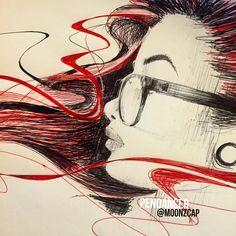 regram @moonzcap Sketchy Monday  with @chibbyyy  #Pendancer #worldofartists #worldoftalents #art #artsy #artoftheday #artnerd #art_spotlight #artcollective #artstagram #artistic #sketch_daily #nawdens #talnts #igers #inked #peace #worldwide  @chibbyyy