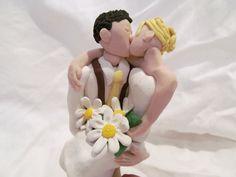 Rustic Hand Sculpted Custom Wedding Cake Topper