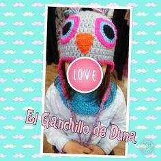 Gorro Buho/owl #crochet #ganchillo