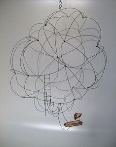 Isabelle Bonte . filaire de nuage à suspendre