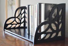 estantería con calados  mdf - fibra de madera diseño y corte mecanizado