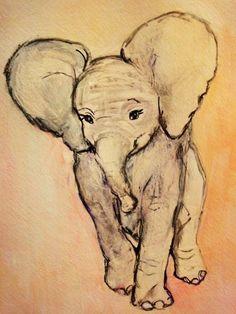 elefante, dibujos, animales, dibujo