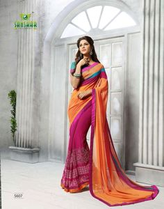 Makhmali georgette Saree