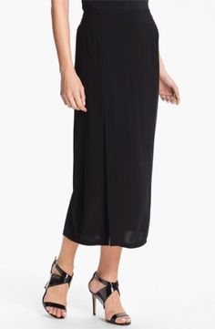 Eileen Fisher Pull-On Silk Midi Skirt (Online Exclusive) $248.0 by nordstrom