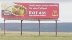 New Mexico McDonalds billboard joke goes viral #McDonalds #food #fastfood #delicious #eating #happymeal