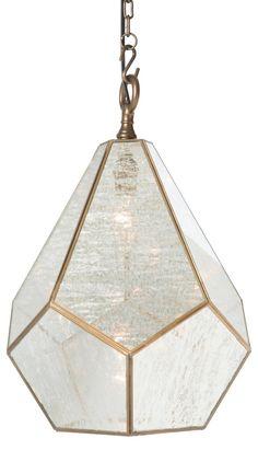 Diamond Pendant, Antiqued Gold