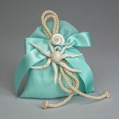 Polipo in ceramica di Capodimonte con sacchetto e conchiglia