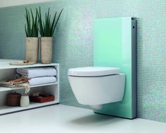For the bathroom remodel... Efficient and easier to clean the floor.