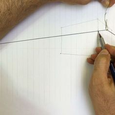 Perspective drawing tricks with thin string :)