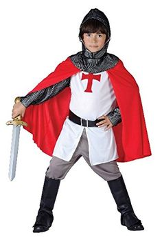 Medieval Crusader Knight Costume for boys: Kids Costumes,and fancy dress costumes - Vegaoo Fancy Dress Costumes Kids, Fancy Dress For Kids, Boy Costumes, Halloween Costumes, Costume Garçon, Knight Costume, Costume Chevalier, Fairy Tale Costumes, World Book Day Costumes