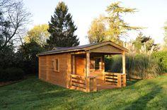 Maisonelle dans l'Oise. Le bois traité par autoclave de classe 4 permet une plus longue durabilité ainsi qu'une meilleure longévité.