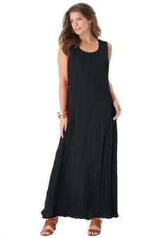 69b94110b2a A Line Crinkle Maxi Dress