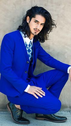 Dapper Male Fashion| Serafini Amelia| Electric Blue Suit