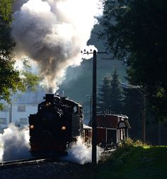 Saxon 6 K - Saxon on special freight train on the Johstadt line in the Erzgebirge Steam Locomotive, Train, Strollers