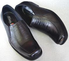 sepatu pantofel berbahan kulit sapi (crocodile 001) Rp 185.000