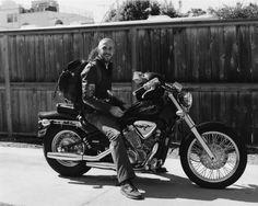 Ryan Gosling on his Honda Shadow