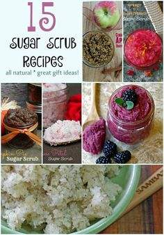 Not only are homemade sugar scrub recipes easy to make, but they are also great gifts for the holidays or birthdays.