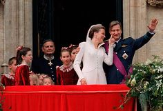 The Wedding Of Prince Philippe Of Belgium And Miss Mathilde D'udekem D'acoz Mathilde Wiping Lipstick From Philippe's Face After Kissing Him