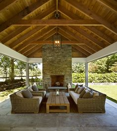 Outside Living, Outdoor Patio Rooms, House Exterior, Outdoor Pavilion, Outdoor Fireplace, Simple Outdoor Kitchen, Outdoor Design, Backyard Living