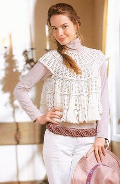 White crochet tunic. with pattern!