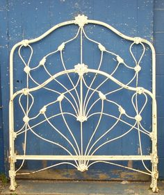 Unique Geometric design, circa mid 1800's. #ironbeds #antiqueironbeds