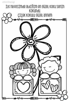 Etknlik aşığı Colouring Pages, Coloring Sheets, Coloring Books, Coloring For Kids, Adult Coloring, Valentine Coloring Pages, School Clipart, Mom Day, Mothers Day Crafts