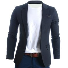 FLATSEVEN Mens Slim Fit Casual Premium Blazer Jacket Black, Boys M Blazers For Men Casual, Casual Blazer, Fashion Mode, Look Fashion, Mens Fashion, Sharp Dressed Man, Well Dressed Men, Mode Outfits, Fashion Outfits