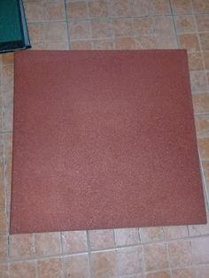 rubber mat anti slip carpet matting 089604376367: rubber tile flooring, karet lantai tebal 50cm x 50... Rubber Tiles, Rubber Mat, Rubber Flooring, Tile Floor, Children Playground, Jakarta, Safety, Color, Security Guard