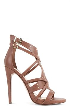 d5ab318473532f Strappy High Heel with Small Platform and Gold Studs