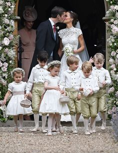 A video of the bride and groom leaving the church appears to show Kate having a strong word with George after he wanders behind Pippa
