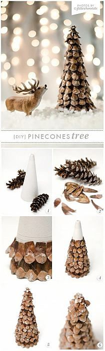 Festive DIY Pine Cone Crafts for Your Holiday Decoration - For Creative Juice Noel Christmas, Rustic Christmas, Winter Christmas, Christmas Ornaments, Pine Cone Crafts, Christmas Projects, Holiday Crafts, Christmas Ideas, Holiday Ideas