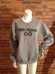 """One Direction """"Directioner"""" Sweatshirt - Gray - All Sizes Available - 1D Sweater - Item: 011 562OXF. $23.45, via Etsy."""