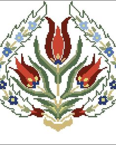 Loom Patterns, Cross Stitch Patterns, Cross Stitch Flowers, Christmas Cross, Cross Stitching, Couture, Diy And Crafts, Sewing Projects, Embroidery