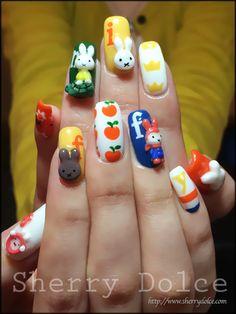 ミッフィー60th記念ネイル の画像|Sherry BLOG-Nail & Happy life- 3d Nail Art, Nail Arts, Diy Nails, Cute Nails, Kawaii Nails, Miffy, Cute Crafts, Diy Art, Nail Designs