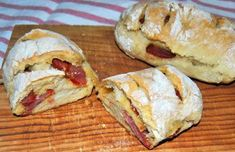 Italian Stromboli ~ A Make Ahead Meal Yum For as long as I've know Nick, I've been searching for a good pizza dough recipe and just haven't found one that I loved. Bacon Bread Recipe, Best Pizza Dough Recipe, Quick Bread Recipes, Cooking Recipes, Portuguese Easter Bread Recipe, Portuguese Sweet Bread, Portuguese Recipes, Portuguese Desserts, Wheat Free Bread
