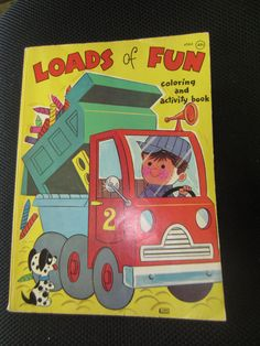 Vintage loads of fun coloring & activity book kitschy pictures LOWE