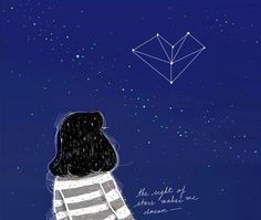 "♥ ""I know nothing with any certainty but the sight of stars makes me dream."" Art by Kathrin Honesta"
