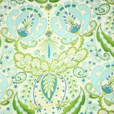 Kumari Garden fabric by Dena Designs for Free Spirit Fabric TEJA in Blue  DF102