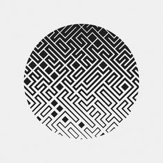"""jacobjoaquin: """"Labyrinth in Circle Inspired by 10 Print. Built with Processing. """""""