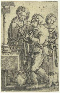 De tandarts, Lucas van Leyden, 1523