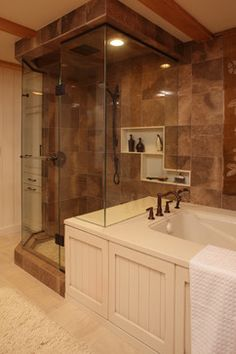 Love this for my master bath. Shower and bathtub. I also like the built in shelving in the shower.