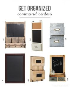 Get Organized: Command Centers
