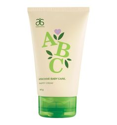 ABC Arbonne Baby Care Nappy Cream #853 - Arbonne Think of it as baby booty love. Help treat and prevent nappy rash with this soothing, protective cream. The deeply hydrating rich formula glides on easily, creating a water repelling moisture barrier to help reduce skin surface irritation.